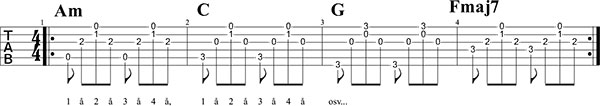 Kompa Counting Stars intro gitarrkomp